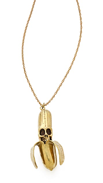 Monserat De Lucca Banana Skull Necklace