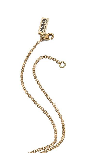 Monserat De Lucca Banana Skull Necklace