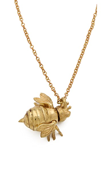 Monserat De Lucca Honey Bee Necklace