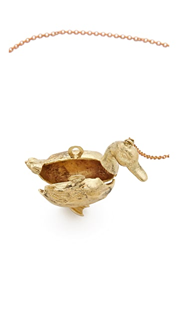 Monserat De Lucca Duck Locket Necklace