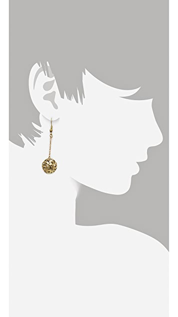 Monserat De Lucca Circle Sphere Earrings