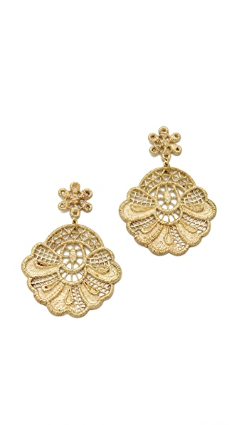 Monserat De Lucca Crochet Lace Earrings