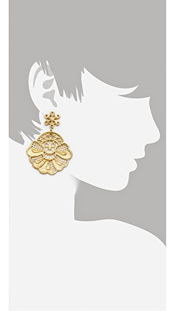 Monserat De Lucca Crochet Lace Earrings