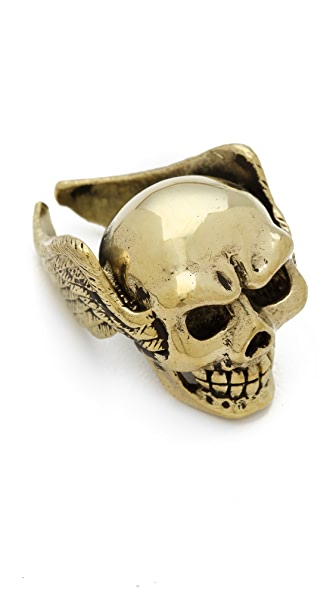 Monserat De Lucca Skull & Wings Ring
