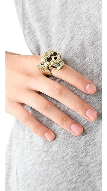 Monserat De Lucca Skull & Wings Ring