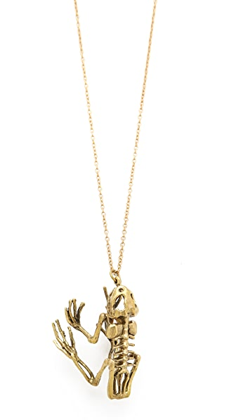 Monserat De Lucca Frog Skeleton Necklace