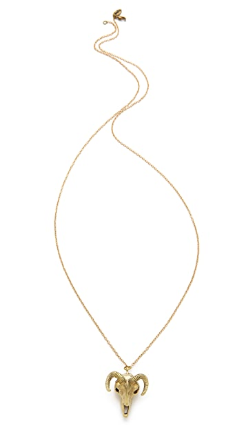Monserat De Lucca Ram Skull Necklace