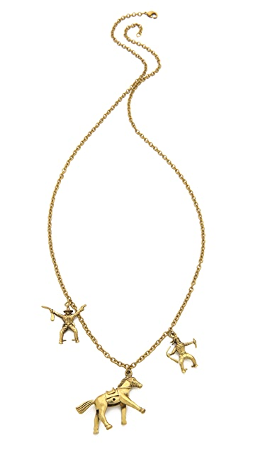 Monserat De Lucca Horse Charm Necklace