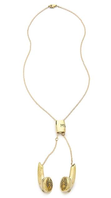 Monserat De Lucca Earbuds Necklace
