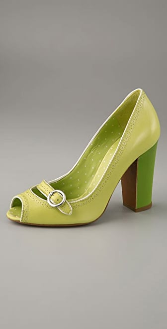 Moschino Cheap and Chic Open Toe Mary Jane Pump