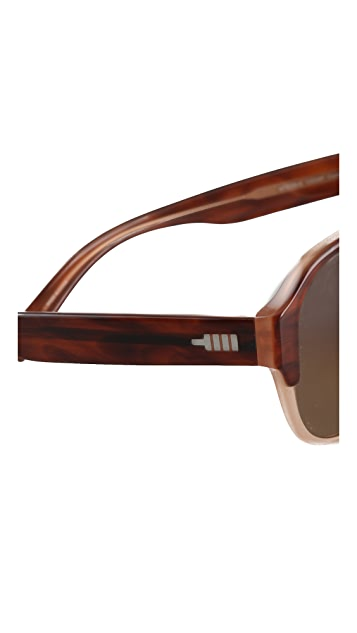 Mosley Tribes Eyewear Cosley Polarized Aviator Sunglasses