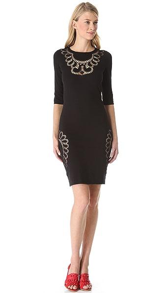 Moschino Eyelet Cutout Knit Dress