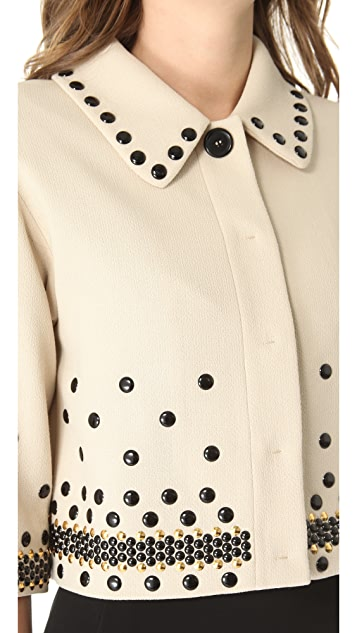 Moschino Studded Crop Jacket