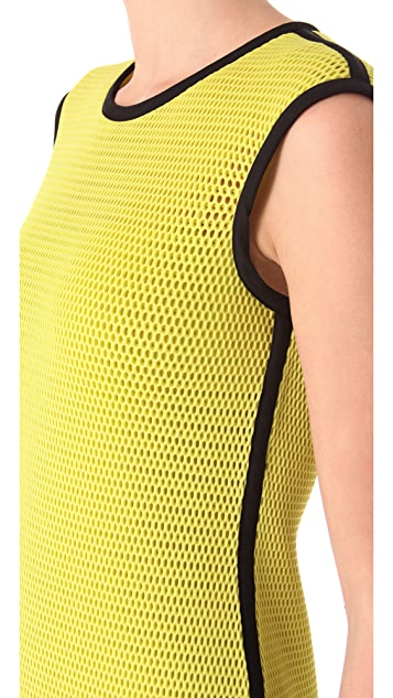 Moschino Technical Net Tank Dress