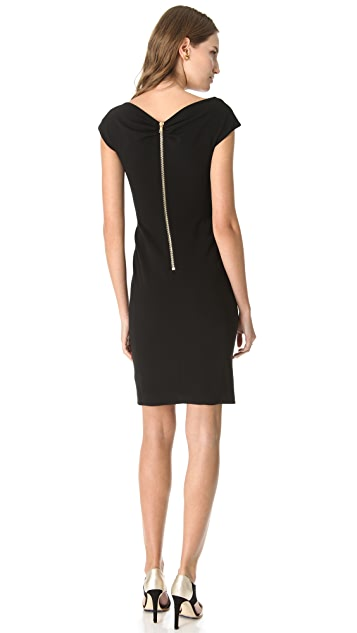 Moschino Crepe Cross Front Dress
