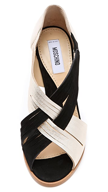 Moschino Cross Front Sandals