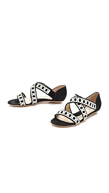 Moschino Suede Sandals
