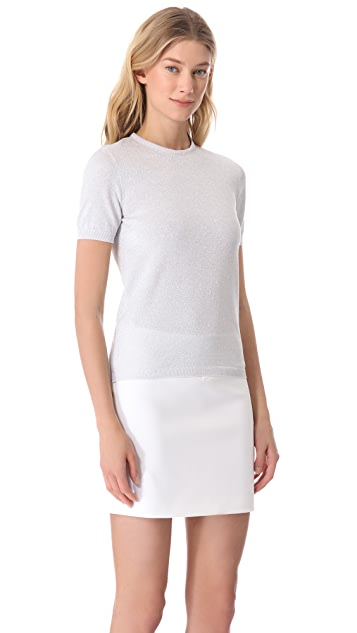 Moschino Silver Polo Top