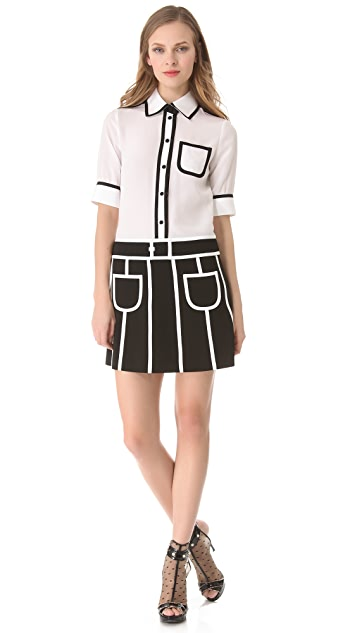 Moschino Contrast Shirtdress