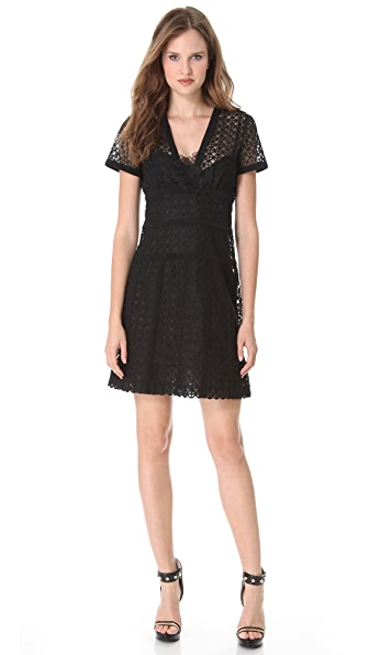 Moschino Embroidered Dress with Floral Accents