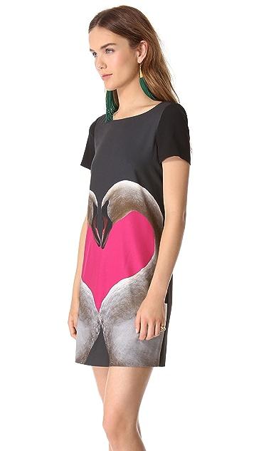 Moschino Cheap & Chic Swan Dress