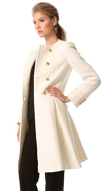 Moschino Pleated Wool Coat