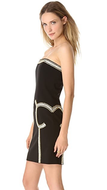 Moschino Embellished Strapless Dress