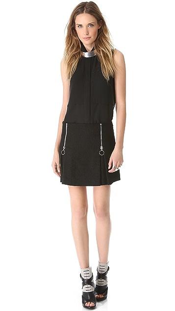 Moschino Cheap and Chic Zip Miniskirt