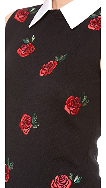 Moschino Rose Embroidered Sweater Vest