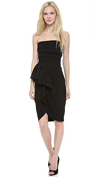 Moschino Strapless Draped Dress