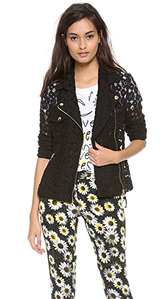 Moschino Cheap and Chic Lace Moto Jacket