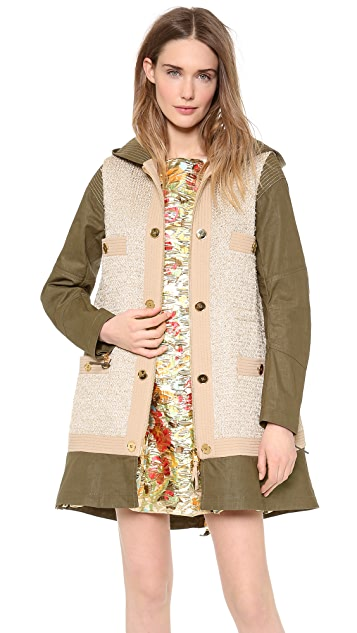 Moschino Tweed Mix Coat