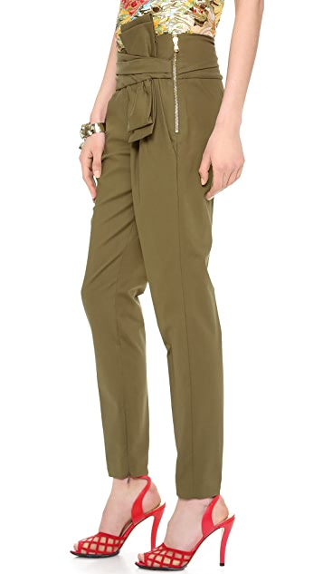 Moschino Pants with Bow Detail