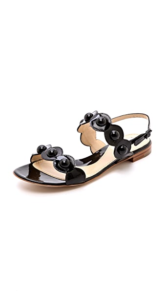 Moschino Scalloped Flat Sandals