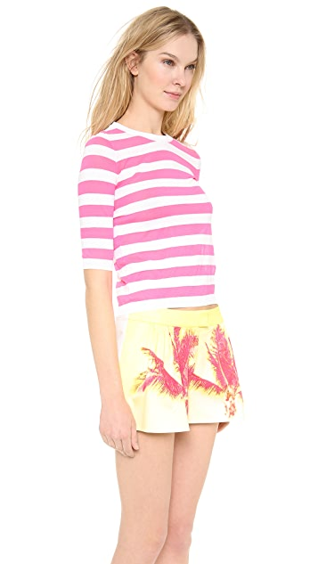 Moschino Cheap and Chic Short Sleeve Striped Top