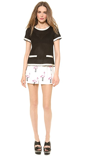 Moschino Cheap and Chic Flamingo Shorts