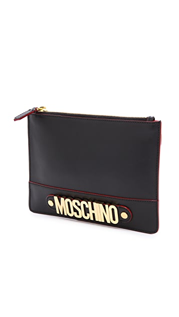 Moschino Zipper Clutch