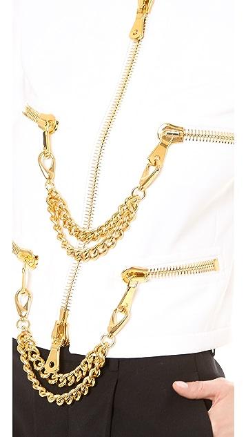 Moschino Zip Front Chain Jacket