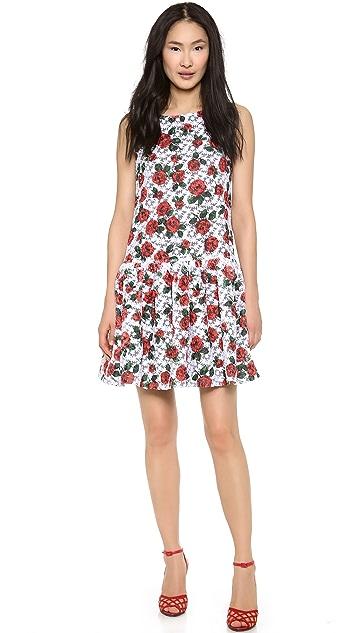 Moschino Organza Flower Drop Waist Dress