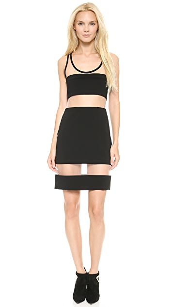 Moschino Mesh Stripe Dress