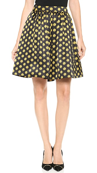 Moschino Printed Satin Skirt