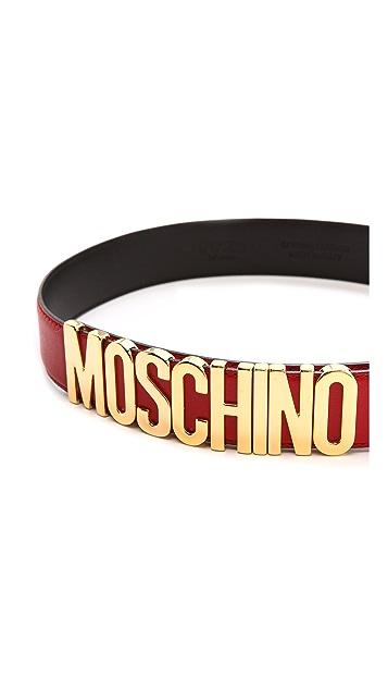 Moschino Slim Moschino Belt