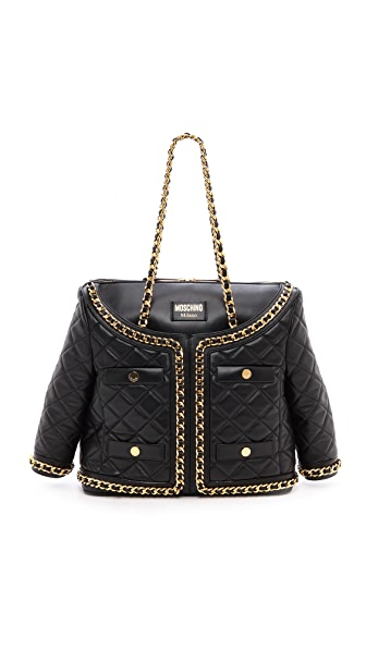 Moschino Quilted Jacket Leather Handbag