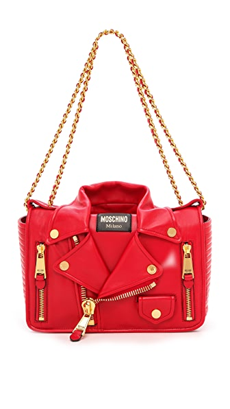 Moschino Moto Jacket Shoulder Bag