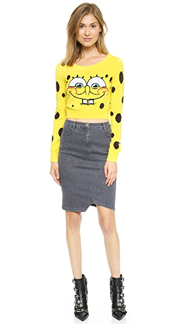 Moschino Spongebob Crop Top