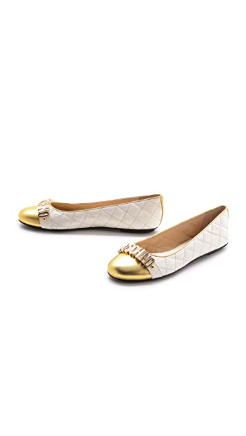 Moschino Ballerina Quilted Flats