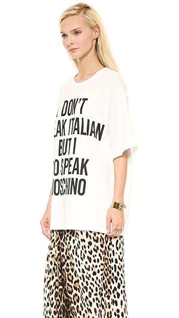 Moschino I'm Loving It I Don't Speak Italian Tee