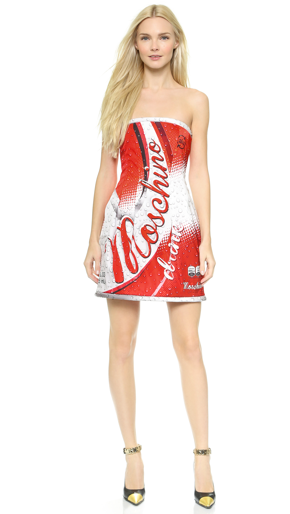 Moschino Soda Strapless Dress - Multi at Shopbop
