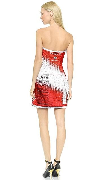 Moschino Soda Strapless Dress