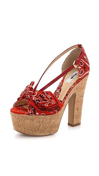 Moschino Bandana Sandals
